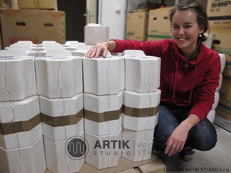 Sádrové formy na keramiku - výroba a prodej, ukázka expedice.