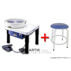 Hrnčířský kruh RK-3E se sedačkou Stool