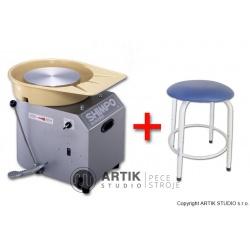 Hrnčířský kruh RK-3D se sedačkou Stool