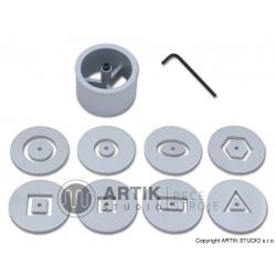 Sada 8 ks dutých profilů a Al vložkou pro HX-65