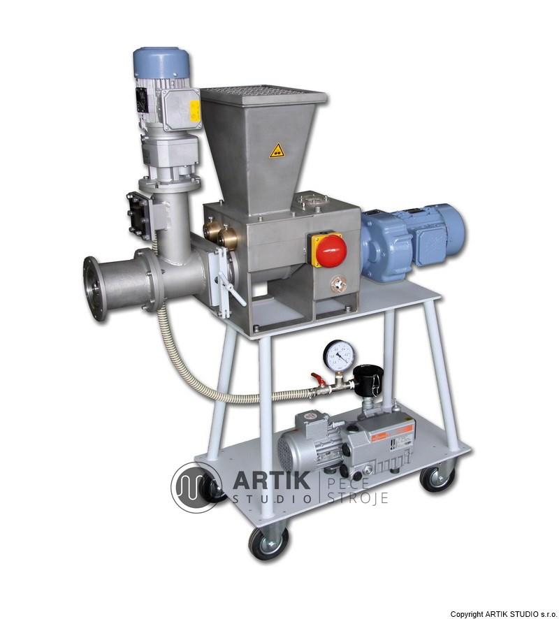 Průmyslový vakuový šnekový lis pro keramický průmysl a laboratoře